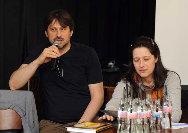 A mikrofonnál: Vidovszky György