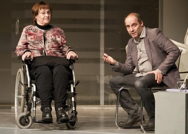 Antal Zsuzsa és Rudolf Péter a Centrál Színház jótékonysági estjén