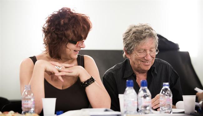 Hernádi Judit és Kern András a Hitted volna? című produkció olvasópróbáján