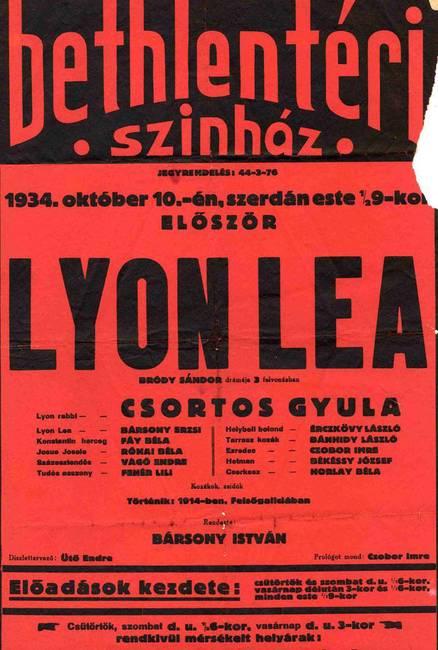 A Lyon Lea 1934-es plakátja