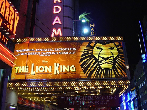 Az oroszlánkirály a New York-i Broadway-n