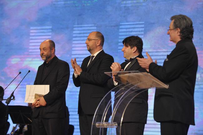 UNITER díjátadó gálája, Marosvásárhely - balról Tompa Gábor, a Kolozsvári Állami Magyar Színház igazgatója