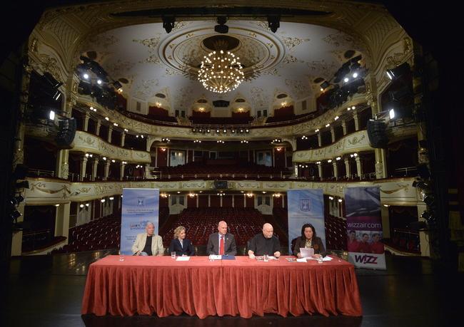 Marton László, Eszenyi Enikő, Ilan Mor és Omri Nitzan Budapesten, a Vígszínházban