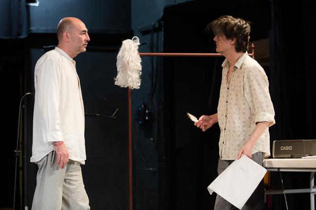 Kulka János és Keresztes Tamás az Amadeus próbáján