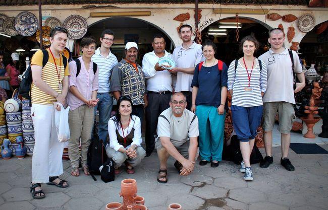A májusi turnén, Marokkóban