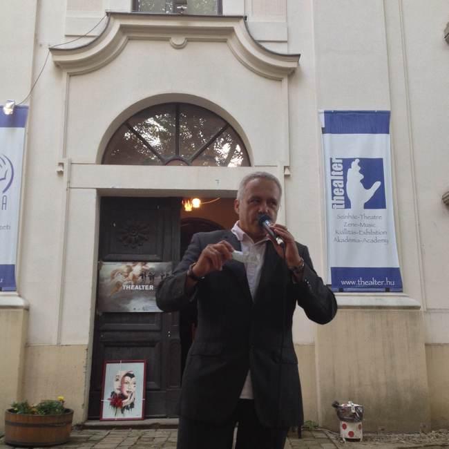 Balog József, a fesztivált szervező MASZK Egyesület elnöke