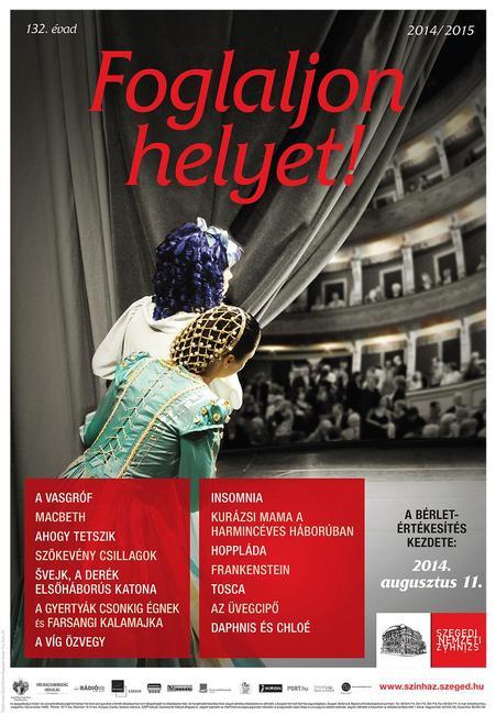 Szegedi Nemzeti Színház 132. évadának plakátja