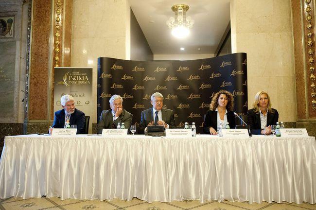 Tolnay Tibor, Dr. Dávid Ferenc, Dr. Csányi Sándor, Honti Hanna és Balogh Gabriella