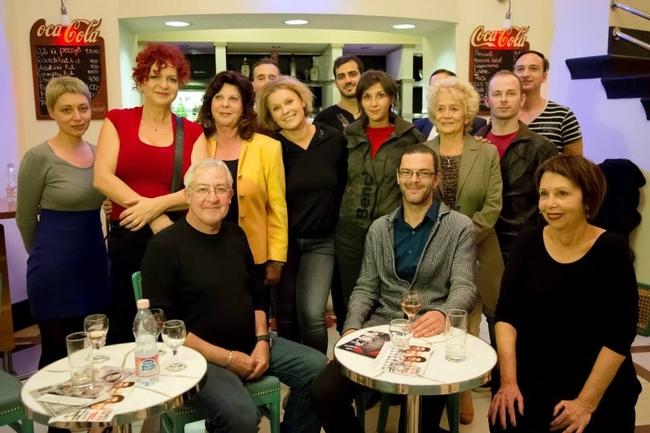 A Happy Ending csapata (elől Gidi Gov, Gergye Krisztián és Edna Mazya)