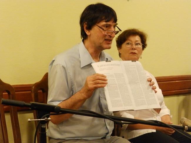 Szakmai beszélgetés a POSzT-on - Sándor L. István, Császár Angela