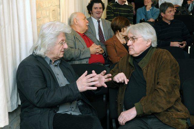 Esterházy Péter író és Koltai Lajos operatőr a fesztivál megnyitóján.