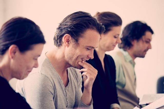 A produkció olvasópróbája - Lengyel Tamás (középen)