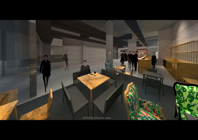 A Katona József Színház kávézójának tervei