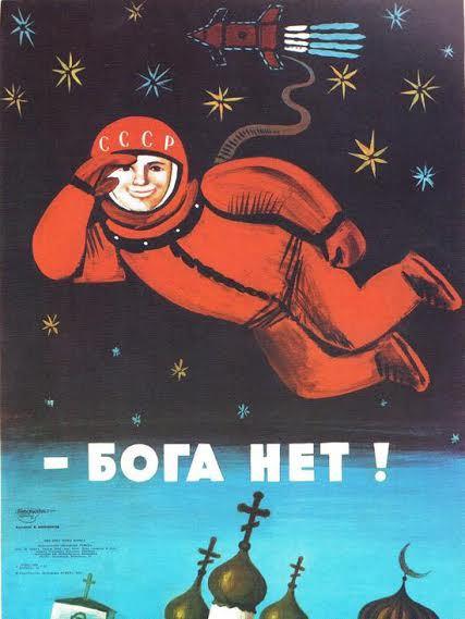 Nincs isten! (szovjet propagandaplakát) Miért ne lenne?! (Ivanyos Ambrus)