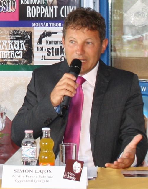 Simon Lajos a sajtótájékoztatón