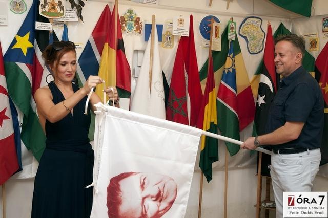 Fodor Annamária zászlóavatása
