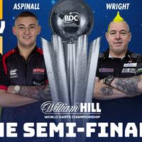 Wright-Price, van Gerwen-Aspinall elődöntők a vb-n