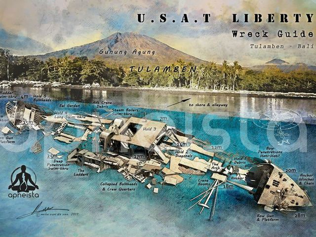 USAT Liberty, hajó a tenger fenekén - Tulanben