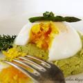 Főtt tojás spárgakrémen