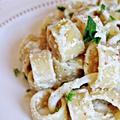 Citromos-édesköményes pestos tészta polippal