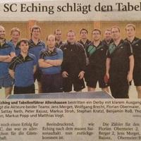 SC Eching legyôzi a ranglistavezetôt