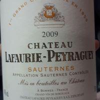 Chateau Lafaurie-Peyraguey 2009 Sauternes, 1er Grand Cru Classé, Bommes