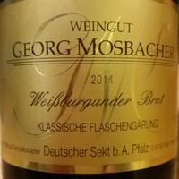 Weingut Georg Mosbacher, Weisburgunder Brut Sekt 2014