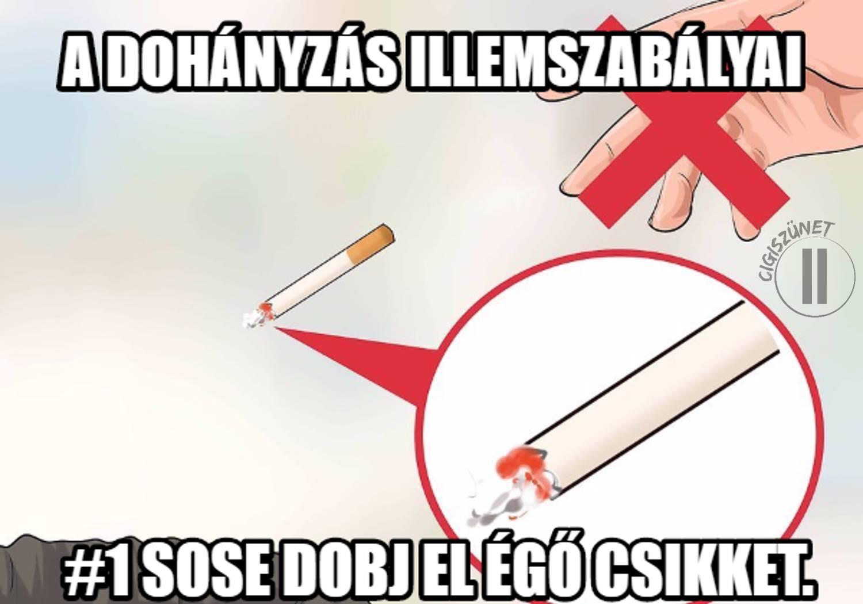 a dohányzás mint veszély
