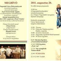 Koncert: 2011. augusztus 20.