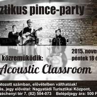 Akusztikus pince-party 2015/11/20