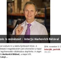 Építőipari sztárinterjúk: Markovich, Illy, Kruchina, Pouzet