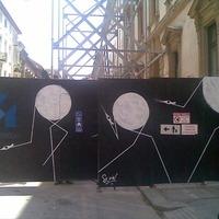 Legális streetart az Oktogonnál