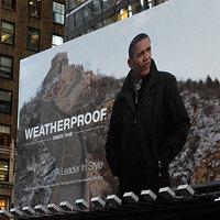 Obama kabátot reklámoz