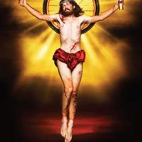 HELL reklámrejtvény biciklis Jézussal