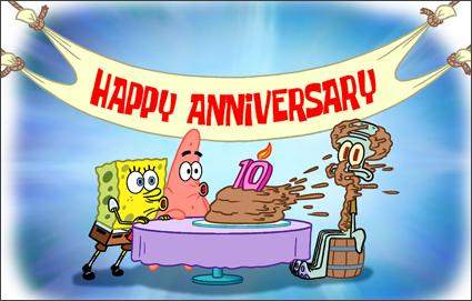 boldog születésnapot spongyabob Spongyabob 10 éves lett   addict boldog születésnapot spongyabob