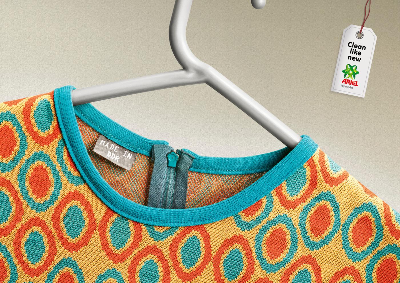 b161ccccd3 A tarkabarka és szemmel láthatóan is idejétmúlt, de élénk színű és  kifogástalan anyagú ruhák címkéjére a készítés helyeként már feloszlott  államokat ...