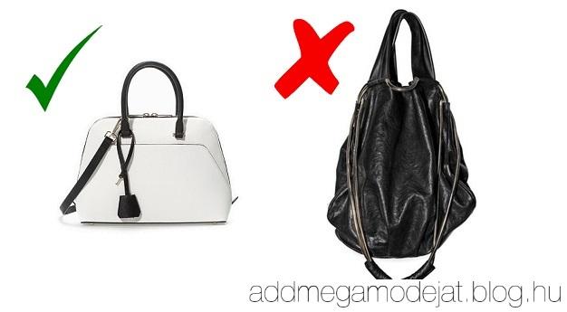 c9f2348b84 10. Formátlan táskák. Sokkal igényesebb megjelenést kölcsönöz, ha merev  táskát választasz.