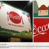 Coca-Cola handmade billboard