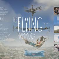 Utaznál egy drónra akasztott függőágyon?