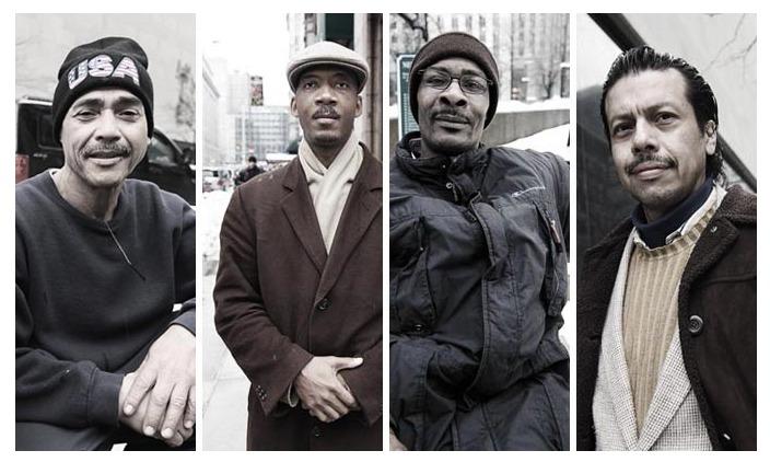 Twittelő hajléktalanok New Yorkban