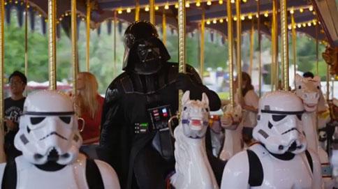 Darth Vader szereti a körhintákat