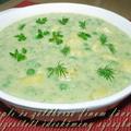 Krumpli és zöldborsó finom füvekkel ízesített édesköményszószban