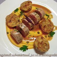 Hús kisrókamártással …. avagy nézhet-e jól ki egy vadas a tányéron?