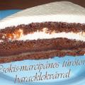 Csokis-marcipános túrótorta baracklekvárral