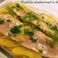 Egyszerű ínyenc hal-egytálétel krumplival, édesköménnyel, vajjal és citrommal