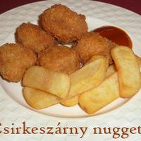 Csirkeszárny nuggets sültkrumplival