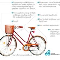 A KRESZ által előírt kötelező kerékpár-tartozékok
