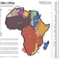 Afrika valódi mérete