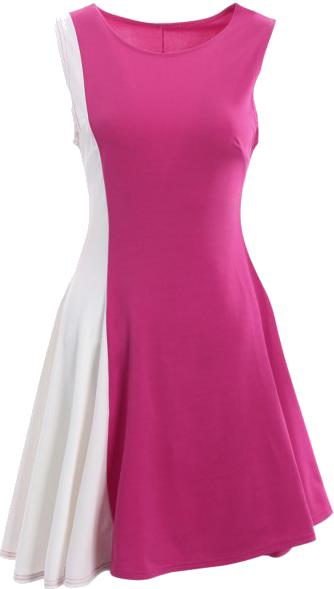 A kalsszikus, sima, nem túl terebélyes szoknyás A-vonalú megoldású ruha szinte mindenkinek jól áll. Apró aránybeli változtatásokkal persze!