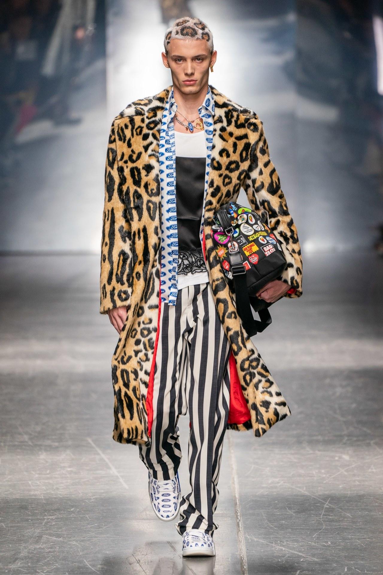 a férfiaknál is bevették a leopárd és állatmintákat, hol extrémebben... (Versace)